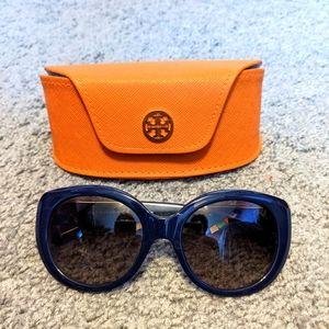 Tory Burch sunglasses dark blue + case